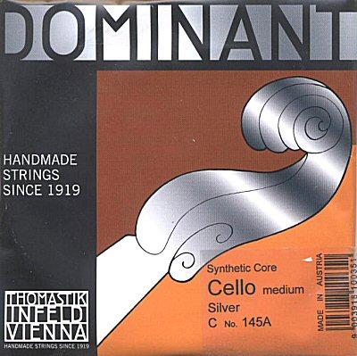 Dominant 4/4 Cello C, silver/perlon, medium