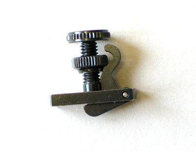 Hill style tuner, 4/4-3/4 violin, black
