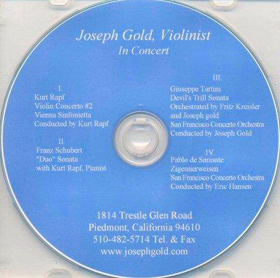 Joseph Gold in Concert