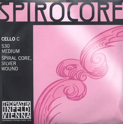 Spirocore 4/4 Cello C, silver/steel, medium