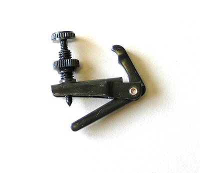 Post type tuner, 1/2-1/4 violin, black